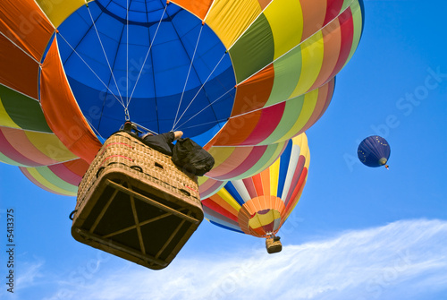 Spoed Foto op Canvas Ballon hot air balloons from above