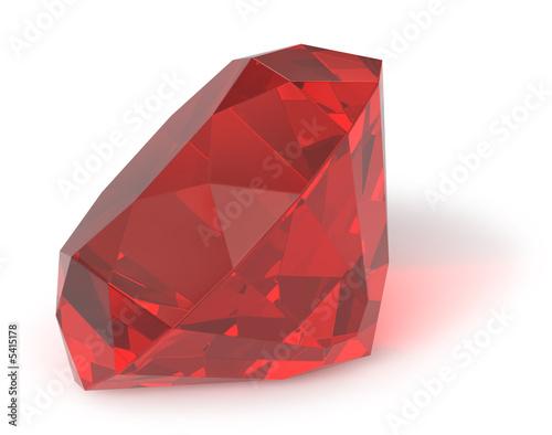 Fotografía  Ruby gemstone isolated