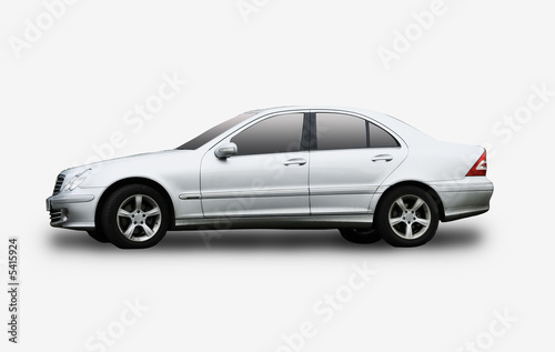 An executive car isolated on a white background Poster