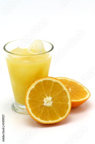 Keuken foto achterwand Opspattend water orange juice