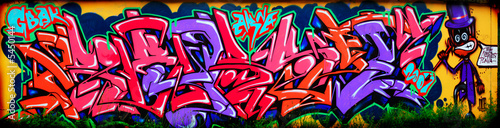 Foto auf Leinwand Graffiti Amazing colorful graffiti