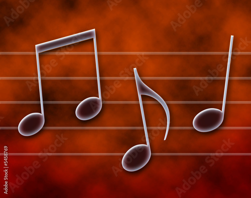 Note musicali sul pentagramma Canvas Print