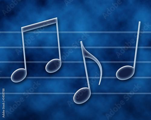 Photo Note musicali sul pentagramma