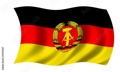 ddr fahne gdr flag Canvas Print