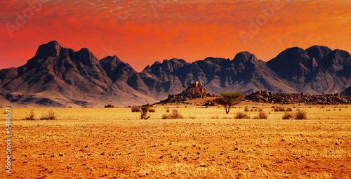 Obrazy na płótnie Canvas Colorful sunset in Namib Desert, Namibia.