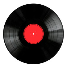 Vinyl 33rpm Record With Red La...