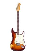 E-guitar Stratocaster Type Shot On White Background