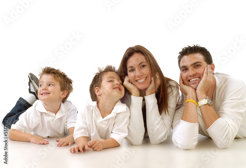 Juliste  Casual portrait of a healthy, attractive young family