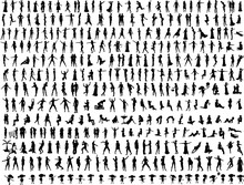 Hundreds Of People Silhouettes 2