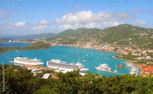 Foto op Plexiglas Caraïben Aerial view of St Thomas, USVI