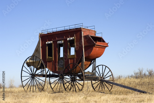 Stagecoach - ready to travel West. Canvas-taulu