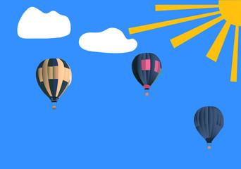 baloni na plavom nebu