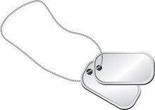 Pair Of Dog Tags Or Identity P...