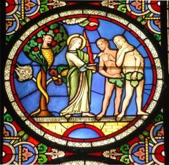 Fototapeta Witraże sakralne Adam & Eve 3 Genesis 2