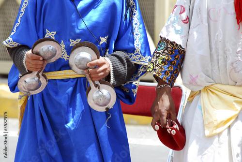 Fotoposter Marokko gruppo musicisti locali in Marocco