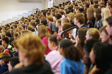 High School Assembly, Audience