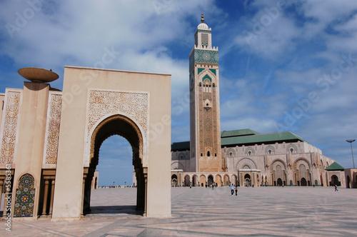 Poster Maroc moschea di Hassan 2`a Casablanca in Marocco