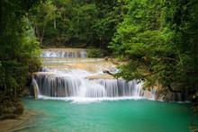 Mountain Stream In Erawan National Park In Thailand