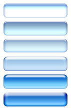 Blue Buttons Set Isolated On White