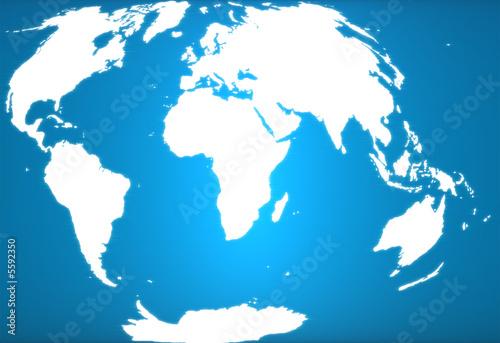 Cadres-photo bureau Carte du monde Blue earth