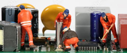 Photo  chantier électronique 3