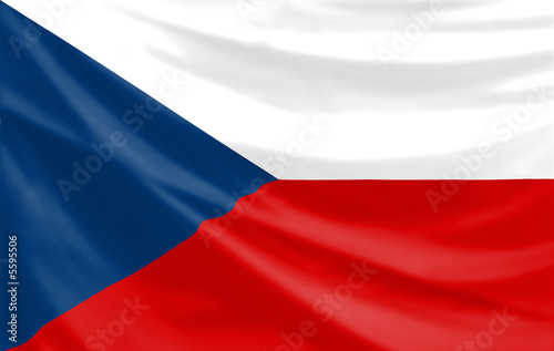 flag of the czech republic Fotobehang