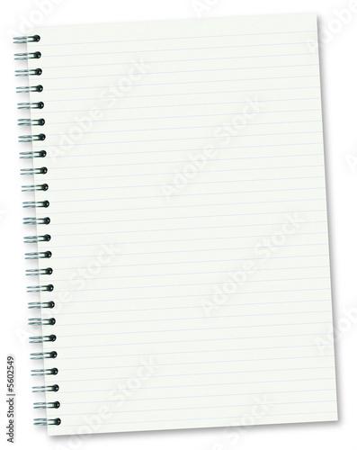 Cahier à spirales (ligné)