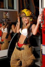 Sexy Woman Fire Fighter
