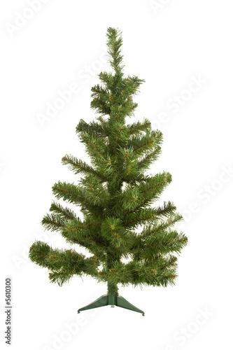 Fototapeta Cristmas object: artificial fir tree over white obraz