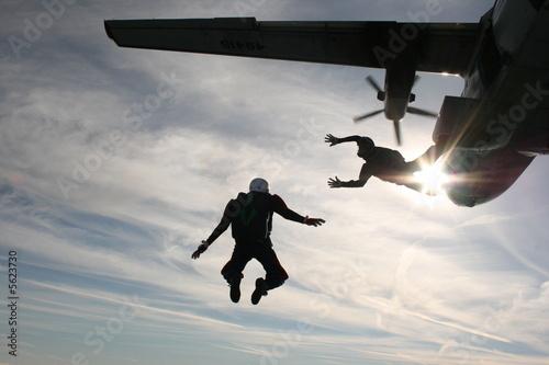 Obraz na plátně skydiver