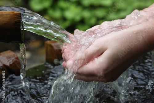 nature water aqua hands fresh pure health spring Fototapete
