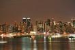 Manhattan Skyline at Christmas Eve