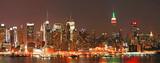 Fototapeta Nowy York - Manhattan panaroma skyline at Christmas Eve