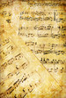 canvas print picture vintage musical pages
