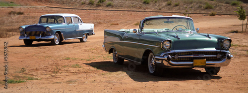 Photo  Pair of Chevrolet BelAir 1956 1957