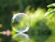 Leinwandbild Motiv Seifenblase + Wassereffekt