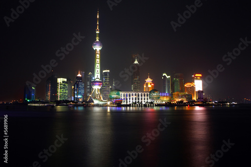 Obraz na plátně  Night view of Shanghai, China