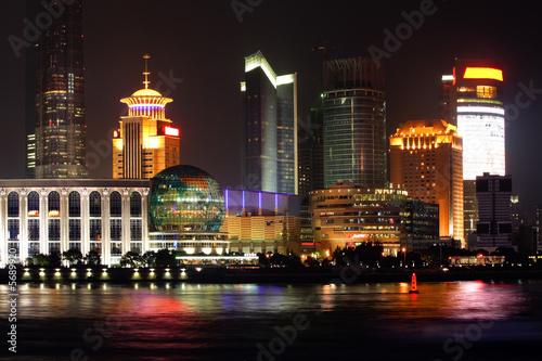 Fotografie, Obraz  Night view of Shanghai, China