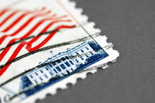 Vintage Postage Stamp Featuring The Whitehouse