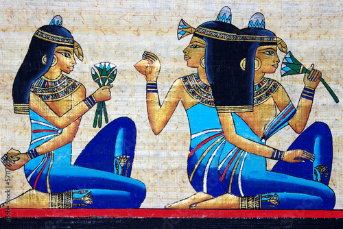 beautiful egyptian papyrus Canvas Print