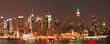 Leinwanddruck Bild Manhattan Skyline at Christmas Eve