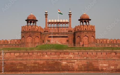 Autocollant pour porte Delhi Lahore Gate, Red Fort, Mughal Palace, Delhi, India