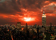 Leinwanddruck Bild New York City midtown skyline