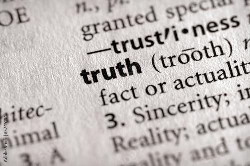 "Fotografie, Obraz  ""truth"". Many more word photos in my portfolio...."