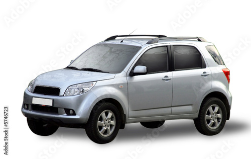 Photo  Car-metallic ford isolated on a white background