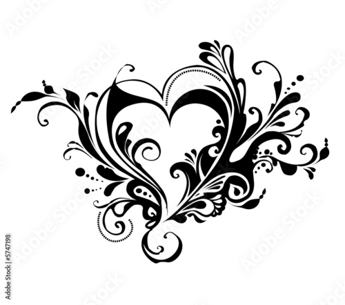 Printed kitchen splashbacks Butterflies in Grunge Valentine's day heart