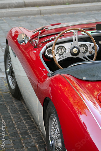 Photo sur Aluminium Vintage voitures Oldtimer 01