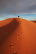 canvas print picture Man observer  sand desert