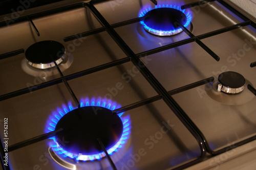 Fotografiet  plaque de cuisson au gaz naturel