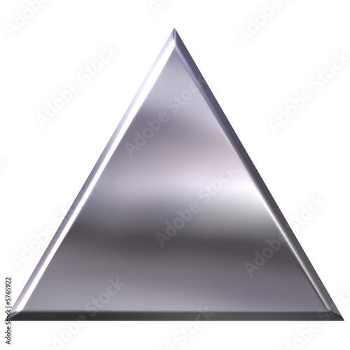 Fotografie, Obraz  3D Silver Triangle